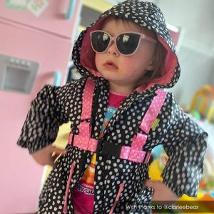 Too Cool for Skool | Pink star baby reins by ONK | @clariebear